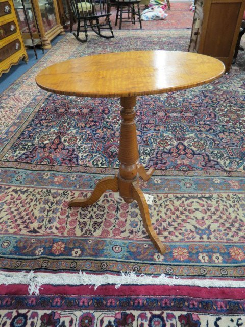 Period Tiger Maple Candlestand,