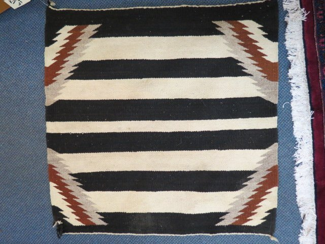Navajo Indian Woven Saddle Blanket,