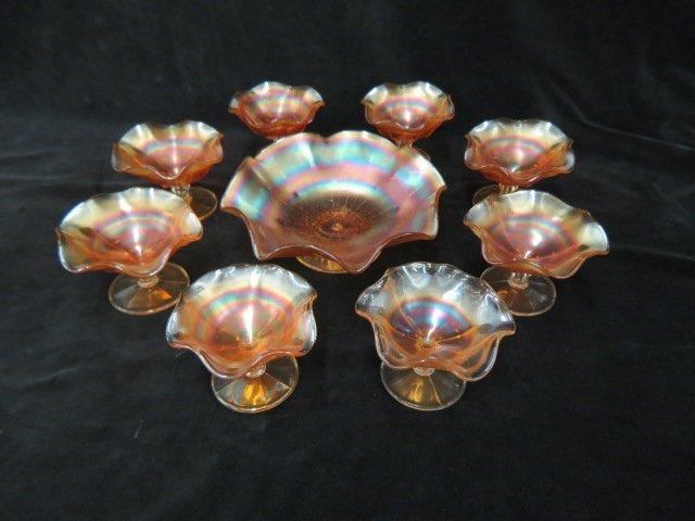 Northwood Carnival Glass Berry Set,