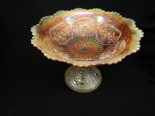 Carnival Glass Large Compote,