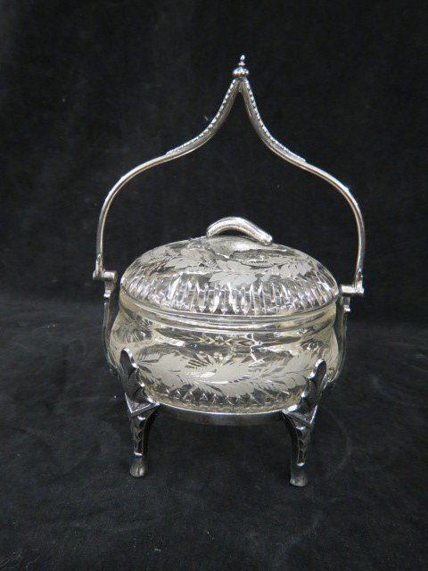 Victorian Silverplate Pickle Castor,