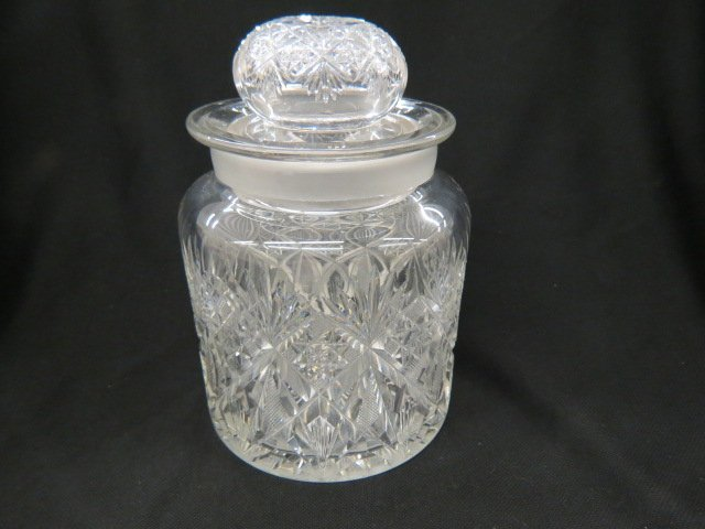 Cut Glass Humidor,