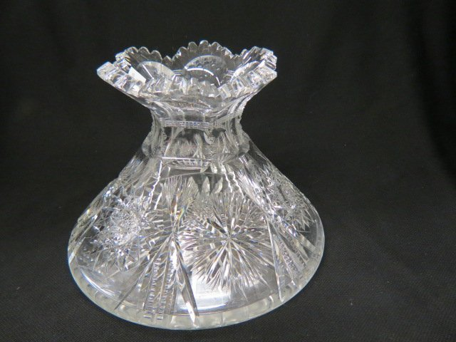 Cut Glass Flora Form Vase,