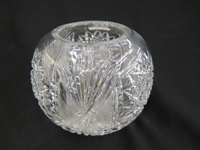 Cut Glass Rose Bowl,