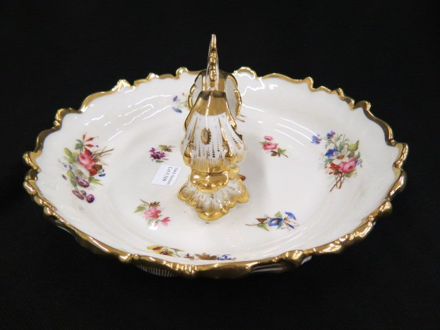 Fine Handpainted Porcelain Serving Dish,