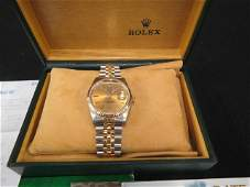 Rolex Man's Wristwatch, stainless and gold,