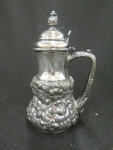 Victorian Silverplate Syrup Pitcher,