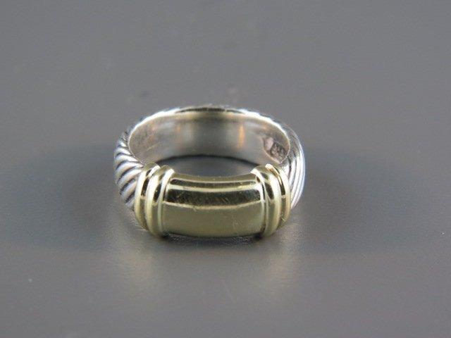 David Yurman 14k Gold & Sterling Ring, band style