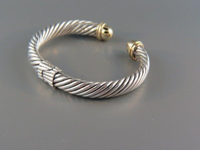 David Yurman 14k Gold & Sterling Bracelet,