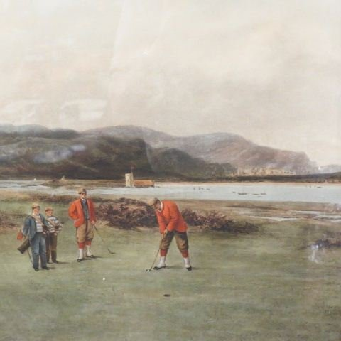 "1894 Golf Engraving ""The Putting Green"","