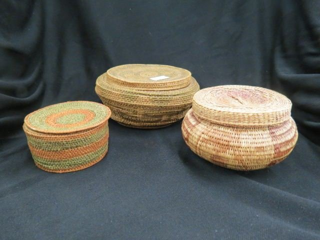 3 Indian Baskets,
