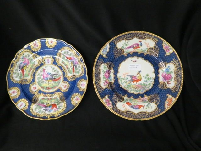 2 Early English Porcelain Plates,