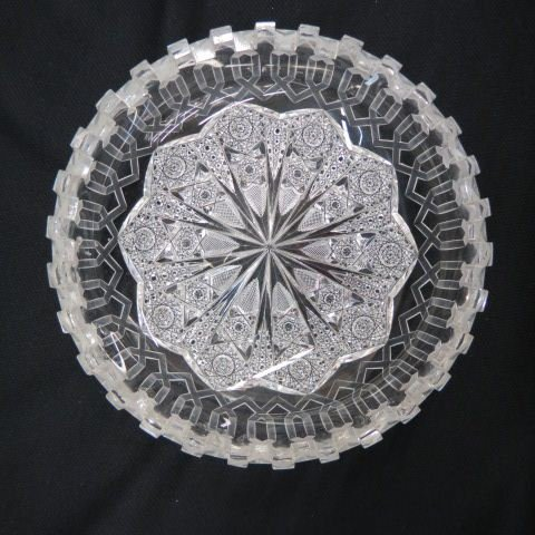 "Cut Glass ""Alhambra"" Bowl by Meriden,"