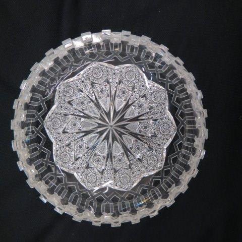 "Cut Glass ""Alhambra"" Bowl by Meriden, - 2"