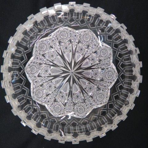 "Cut Glass ""Alhambra"" Bowl by Meriden, - 3"