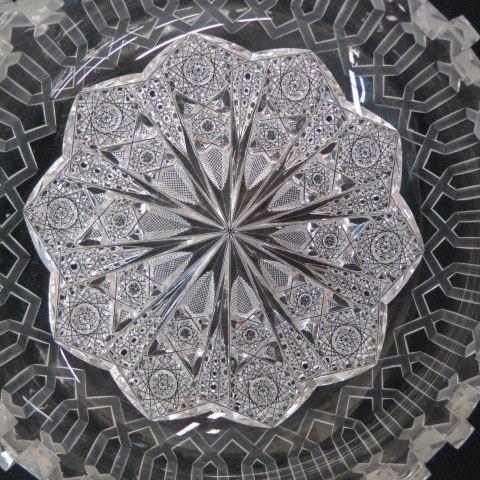 "Cut Glass ""Alhambra"" Bowl by Meriden, - 4"