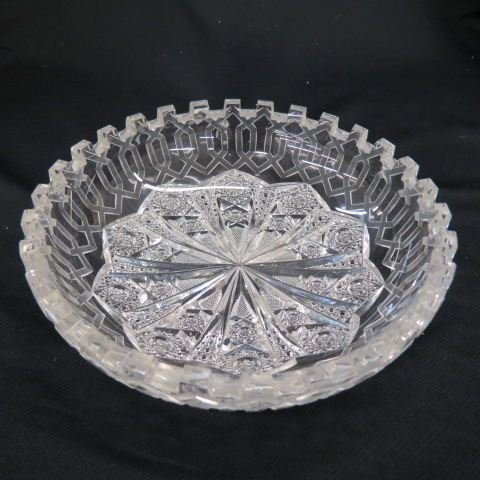 "Cut Glass ""Alhambra"" Bowl by Meriden, - 5"