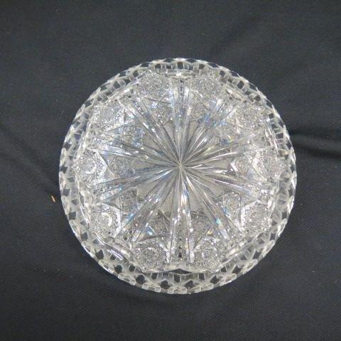 "Cut Glass ""Alhambra"" Bowl by Meriden, - 7"