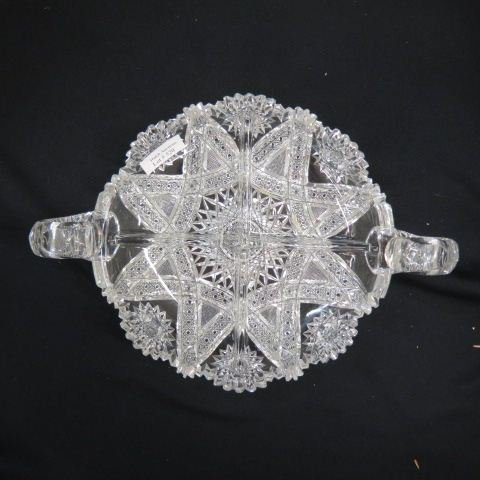 Cut Glass Divided Dish,