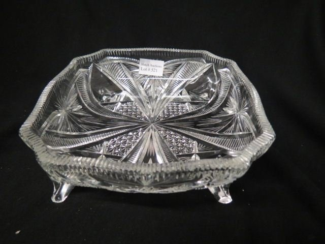 Cut Glass Footed Dish,