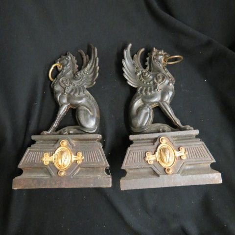 Pair of Victorian Chenets,