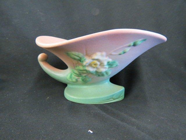 Roseville White Rose Art Pottery Vase,