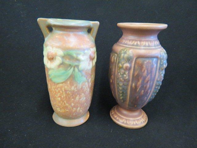 2 Roseville Art Pottery Vases,