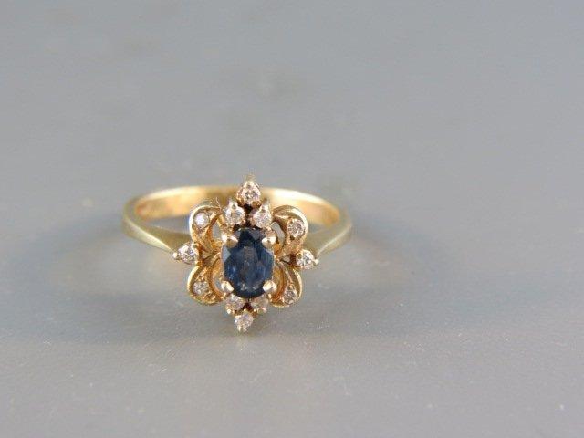 Sapphire & Diamond Ring,
