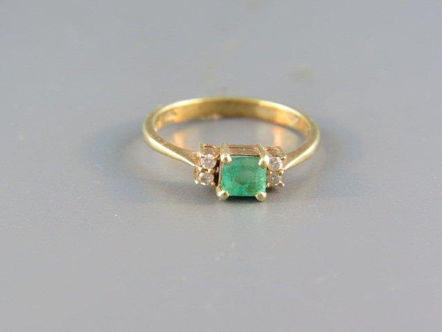 Emerald & Diamond Ring,