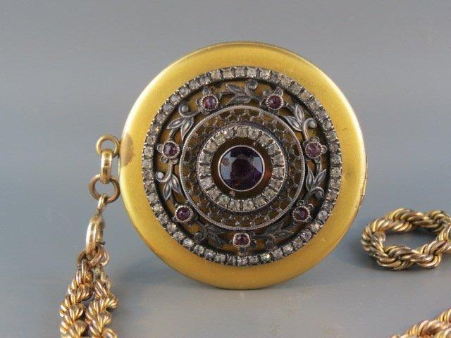 Victorian Gold-Filled Locket & Chain,