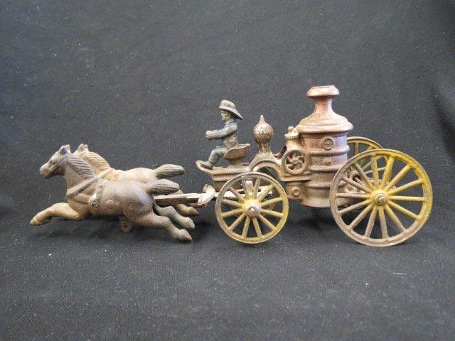 Cast Iron Toy Horse Drawn Wagon,