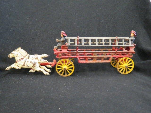 Cast Iron Toy Fire Wagon,