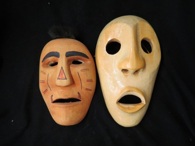2 Cherokee Indian Masks, : Lot 0300B
