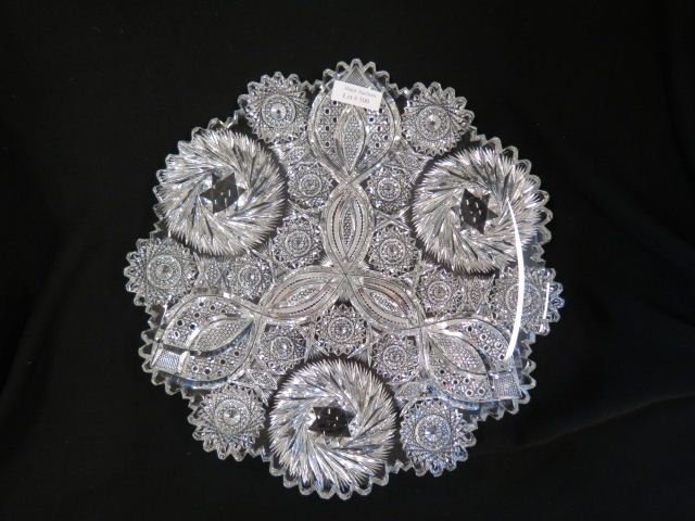 Cut Glass Tray,
