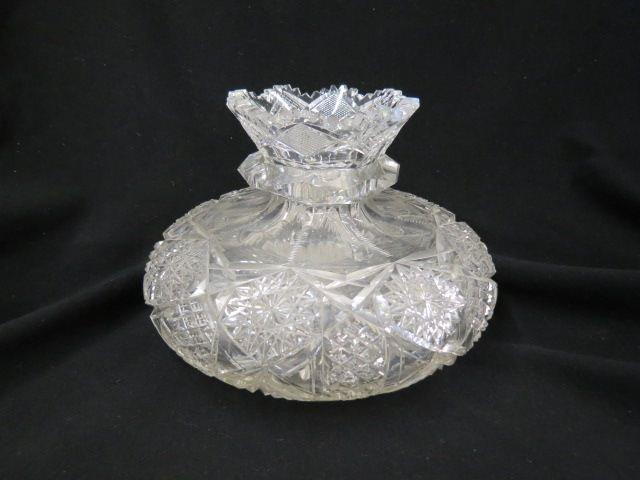 Cut Glass Flower Center Vase,