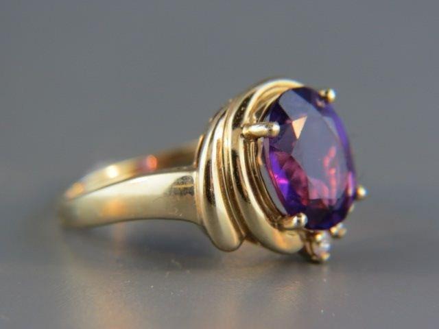 Amethyst & Diamond Ring,