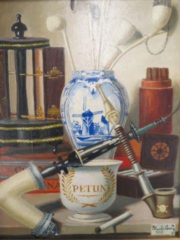 Charles Cerny, oil, still life