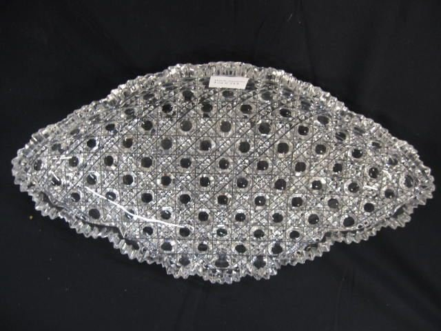 Cut Glass Oval Tray,