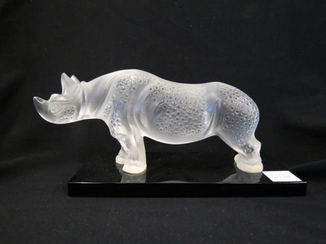 Lalique Crystal Figurine of a Rhino,