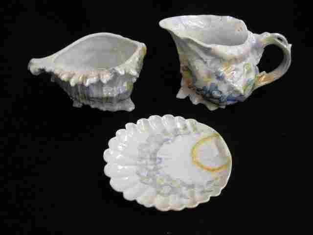 Royal Bayreuth Porcelain Figural Shell Items;