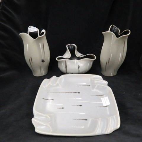 4 pcs. Austria Art Pottery,