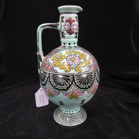 Gouda Dutch Art Pottery Ewer,