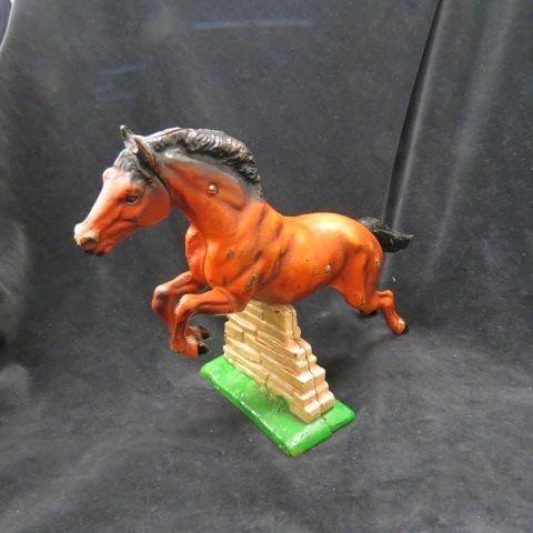 Hubley Cast Iron Figural Horse Figurine or Doorstop