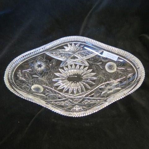 Cut Glass Oval Dish,
