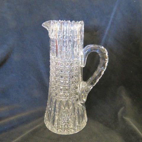 Libbey Cut Glass Tall Pitcher,