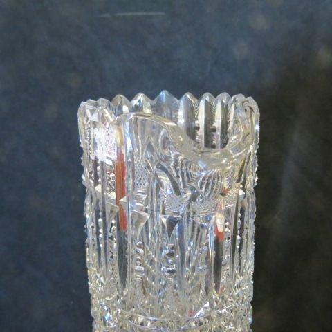 Libbey Cut Glass Tall Pitcher, - 3