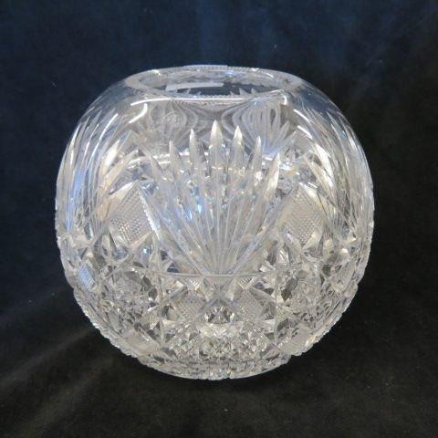 Cut Glass Rose Bowl,