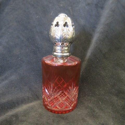 Dorflinger Cranberry Cut-to-Clear Perfume Burner,
