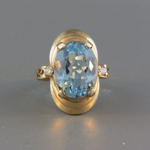 Blue Topaz Ring,