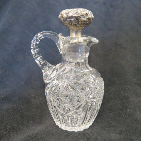 Cut Glass & Sterling Silver Cruet,